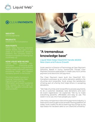 """A tremendous knowledge base"" - ClearGIVE Case Study"
