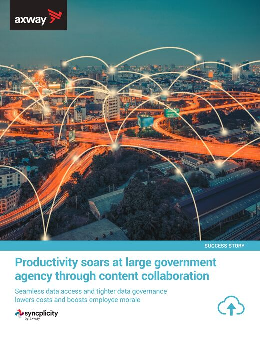 Productivity soars at large government agency through content collaboration
