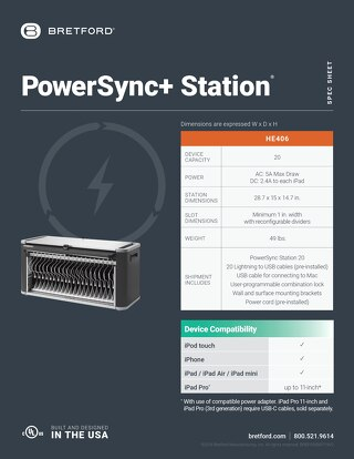 PowerSync+ Station Spec Sheet