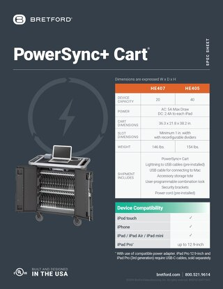 PowerSync+ Cart Spec Sheet