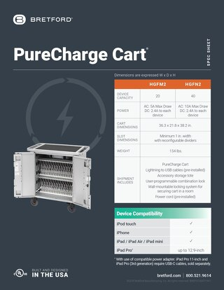 PureCharge Cart Spec Sheet