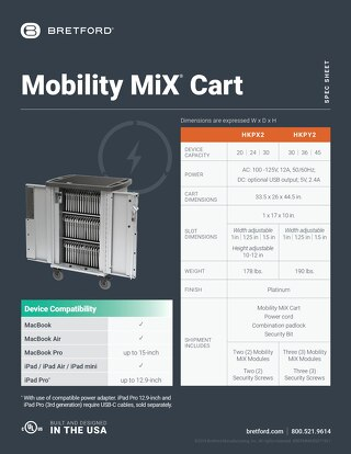 Mobility MiX Cart Spec Sheet