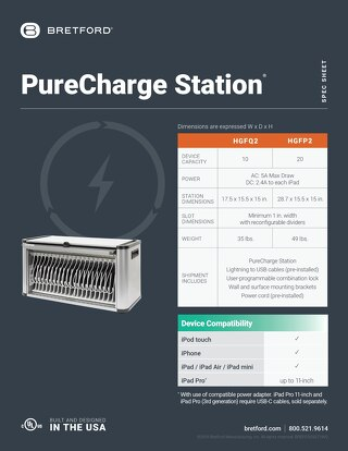 PureCharge Station Spec Sheet