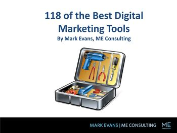 Free Ebook: 118 of the Leading Digital Marketing Tools | Mark Evans Tech