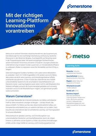 Fallstudie Metso - Mit der richtigen Learning-Plattform Innovationen vorantreiben