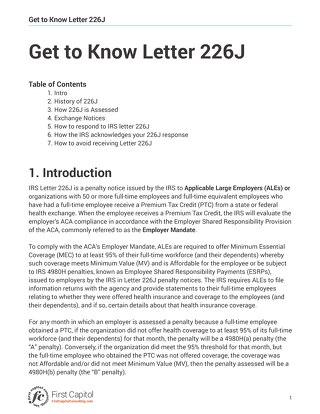 Get To Know Letter 226J PDF