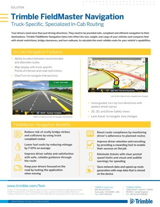 Solution Sheet - FieldMaster Navigation - US