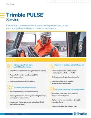 Trimble PULSE Service Solution Sheet US