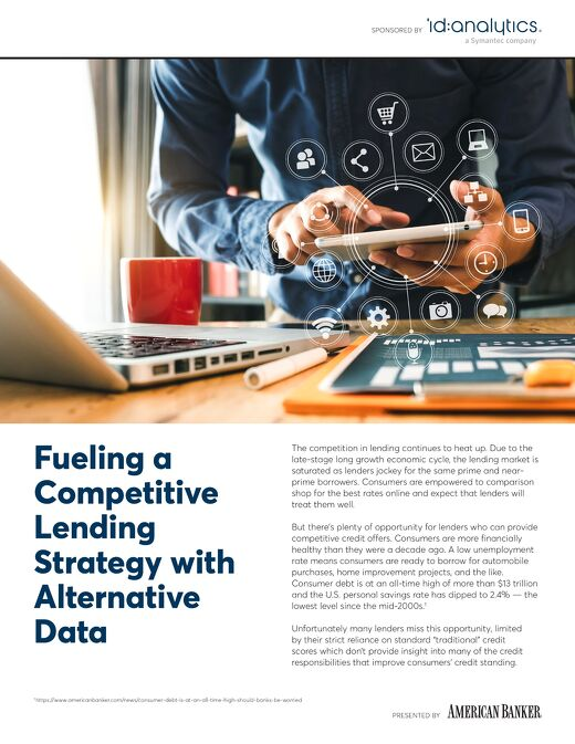 Fueling a Competitive Lending Strategy - Presented by American Banker