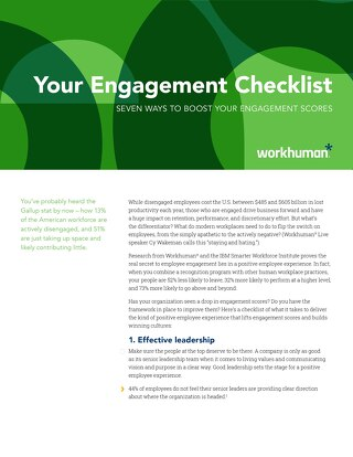 Checklist: 7 Ways to Boost Your Engagement Scores
