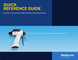 Quick Reference Guide: Sonicision™ Curved Jaw Cordless Ultrasonic Dissection System