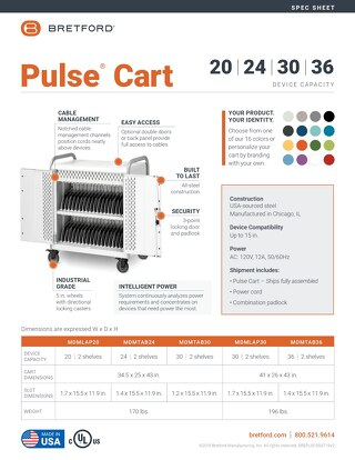 Pulse Cart Spec Sheet