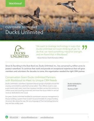 Customer Spotlight: Ducks Unlimited