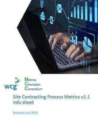 WCG MCC Site Contracting Metrics Infosheet