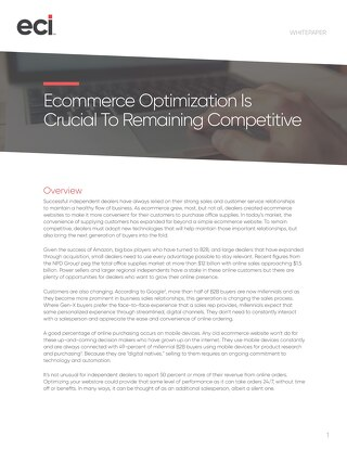 Ecommerce Optimization Is Crucial to Remaining Competitive