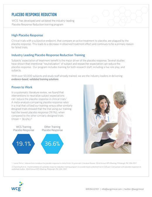Placebo Response Reduction
