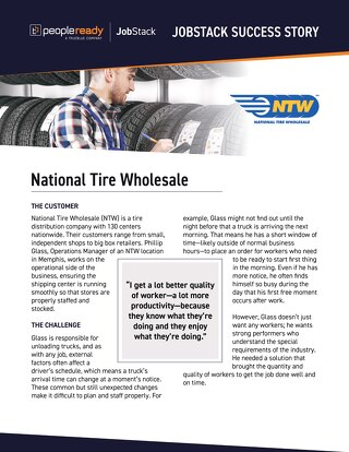 JobStack - National Tire Wholesale NTW Case Study
