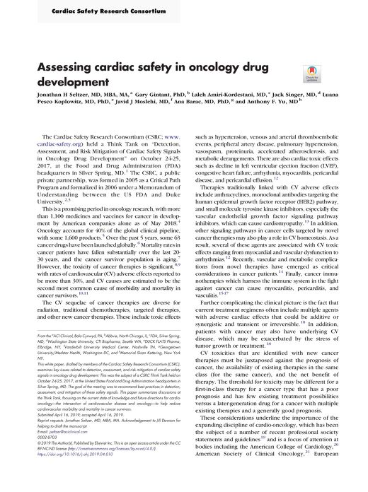 Assessing Cardiac Safety in Oncology Drug Development