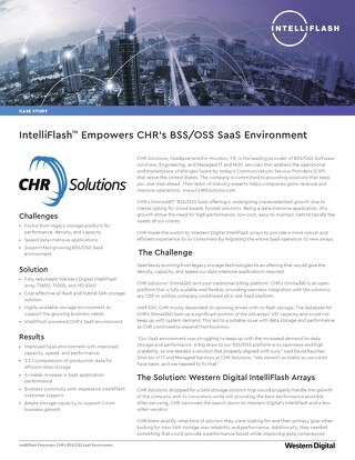 IntelliFlash Empowers CHR's BSS/OSS SaaS Environment