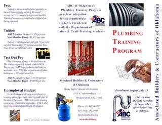 ABC Plumbing Apprenticeship Brochure