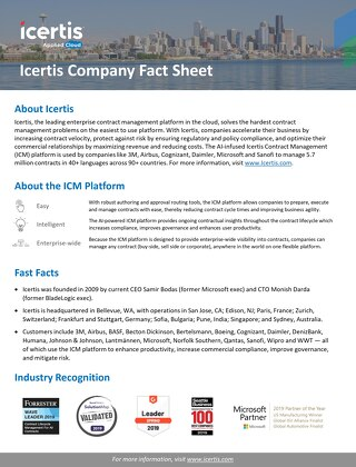 Icertis Fact Sheet