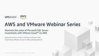 Modernizzare I tuoi ambienti SQL Server con VMware Cloud on AWS