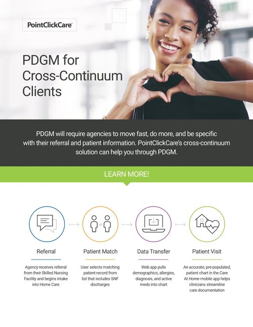 PDGM Home Care Infographic