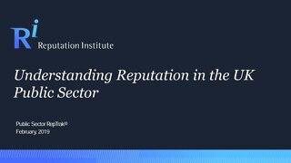 2019 Understanding Reputation in the UK Public Sector