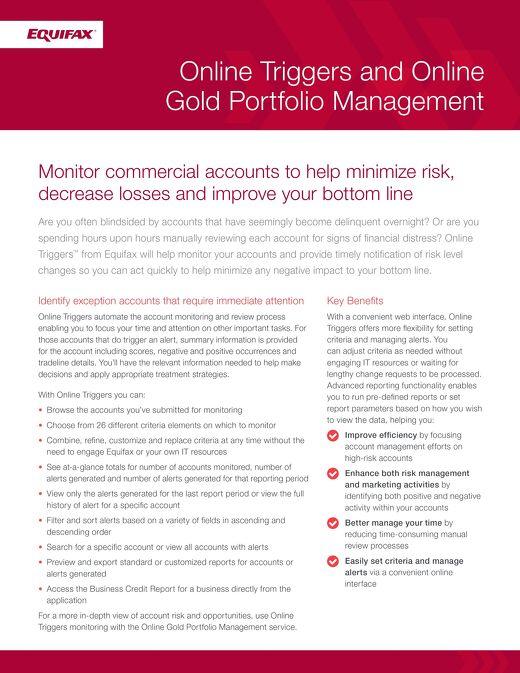 Online Triggers and Online Gold Portfolio Management