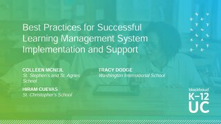 Best Practices for Learning Management System Implementation and Support