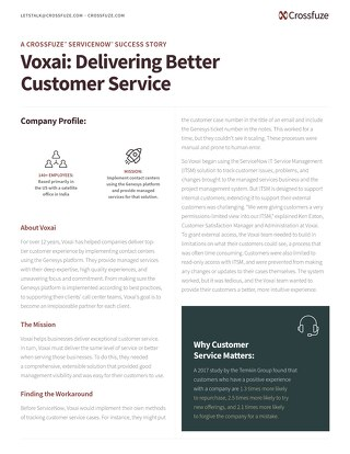 ServiceNow CSM Success Story: Voxai
