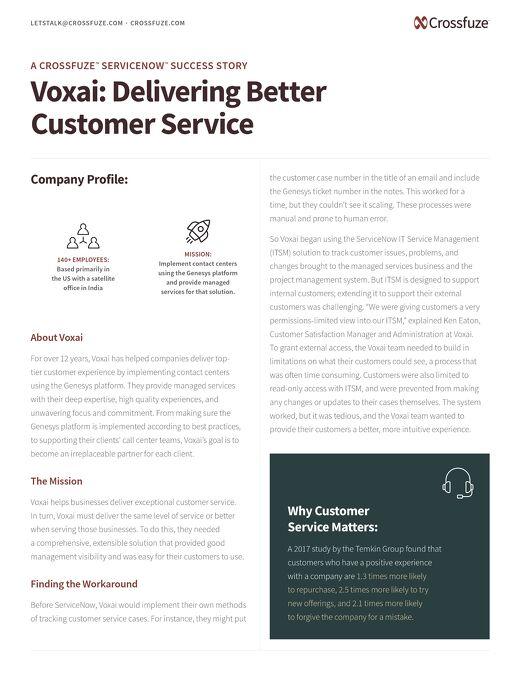 ServiceNow CSM Success Story: Voxai