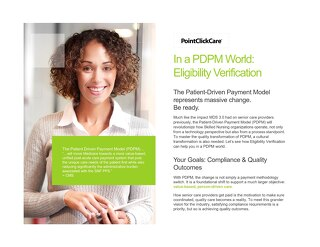 PDPM Eligibility Verification Solution Sheet