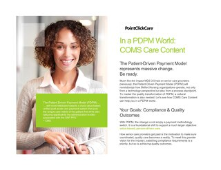 PDPM COMS Care Content Solution Sheet