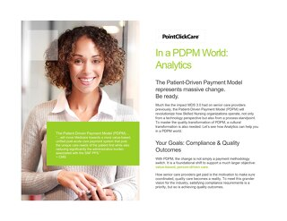 PDPM Analytics Solution Sheet