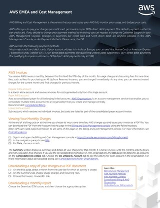 AWS EMEA Billing