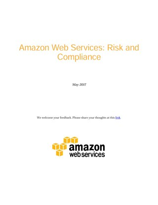 Amazon Web Services: Risk and Compliance
