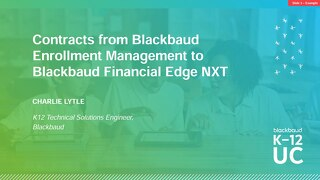 Contracts from Blackbaud Enrollment Management to Blackbaud Financial Edge NXT