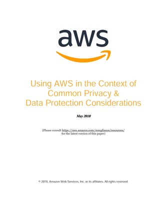 Using AWS in the context of Common Privacy & Data Protection Considerations
