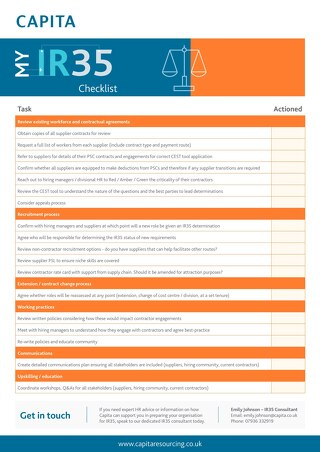 IR35 Preparation Checklist