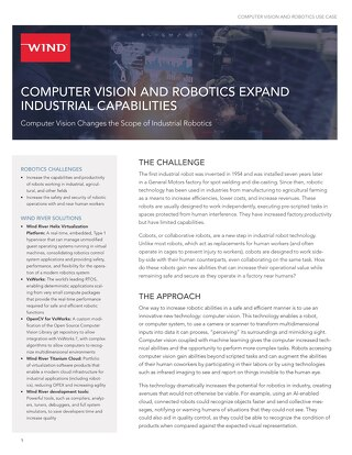 Computer Vision and Robotics Use Case