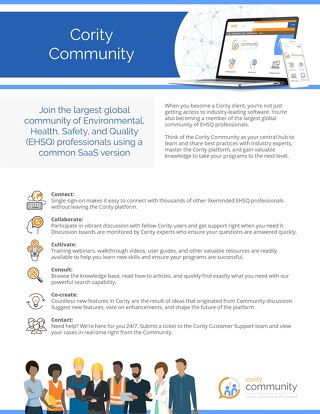 One Pager - Cority Community