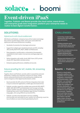 Event Driven iPaas Solace + Dell Boomi Datasheet