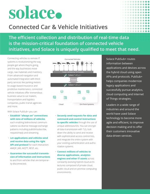 Real-Time Data Distribution for the Connected Vehicle | Datasheet