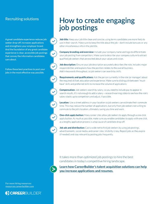 How to create engaging job postings