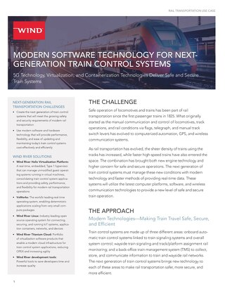 MODERN SOFTWARE TECHNOLOGY FOR NEXT-GENERATION TRAIN CONTROL SYSTEMS