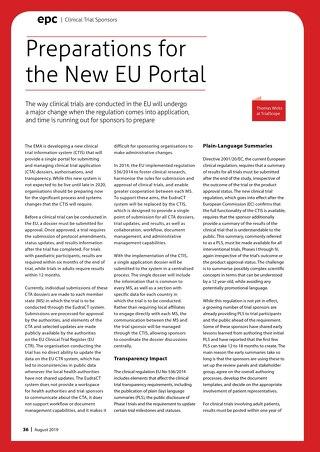 European Pharma Contractor: Preparations for the New EU Portal