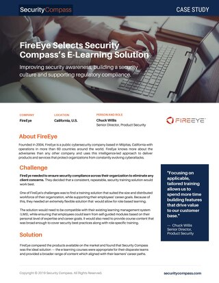 FireEye Selects Security Compass's eLearning Solution