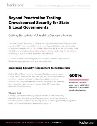 VDP and Crowdsourced Security for State Local and Governments
