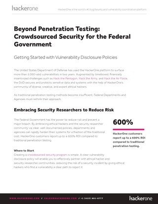 Vulnerability Disclosure Policy and Crowdsourced Security for the Federal Governments White Paper